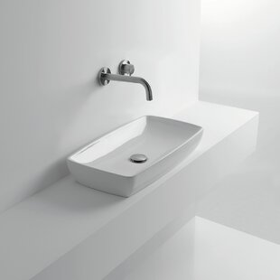 Reviews H10 Ceramic Rectangular Vessel Bathroom Sink By WS Bath Collections