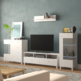 Reviews Halloway Entertainment Center for TVs up to 65 (Set of 4) by Ivy Bronx Reviews (2019) & Buyer's Guide