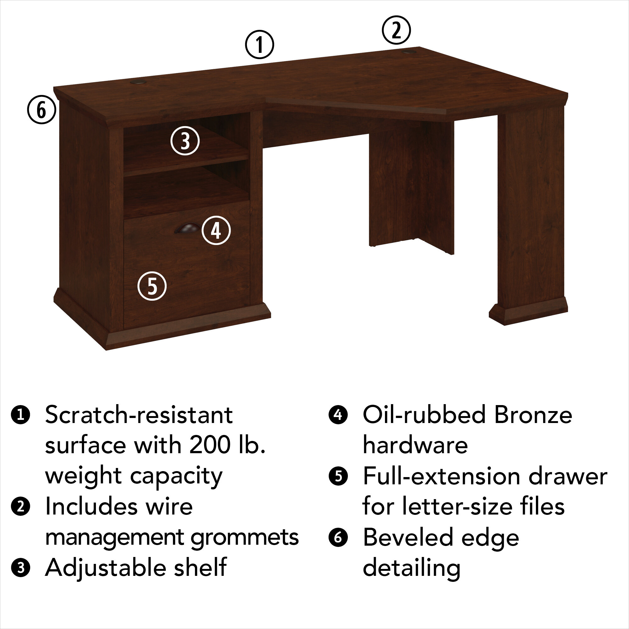 Spurrell Desk Reviews Birch Lane