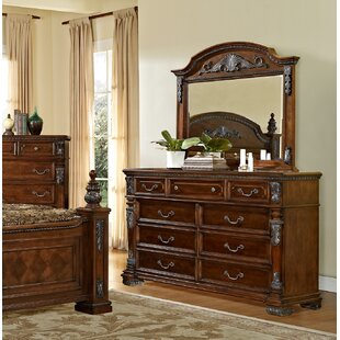 Orleans 9 Drawer Dresser with Mirror