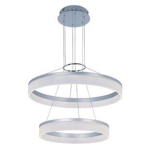 Cassiopeia 2-Light LED Chandelier by Orren Ellis