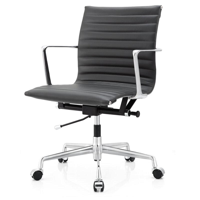 Meelano Aniline leather Office Chair Reviews Wayfair