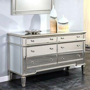 Willa Arlo Interiors Ake 6 Drawer Double Dresser