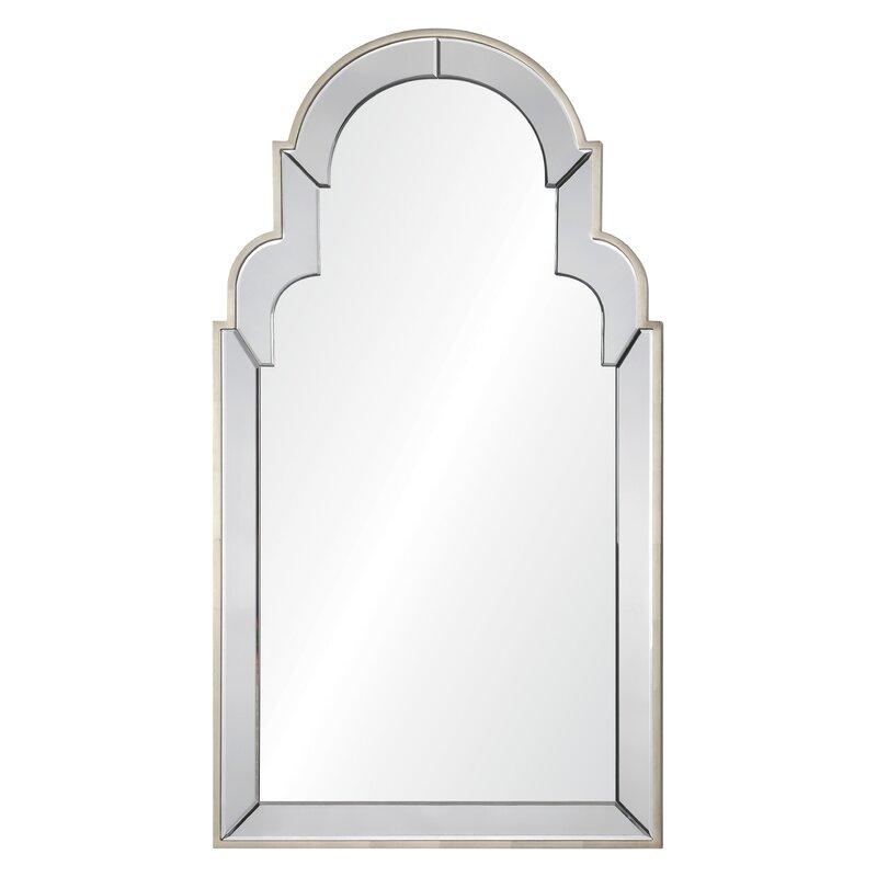 Bon Mirror Image Home Celerie Kemble Queen Anne Leaf Accent Mirror | Wayfair