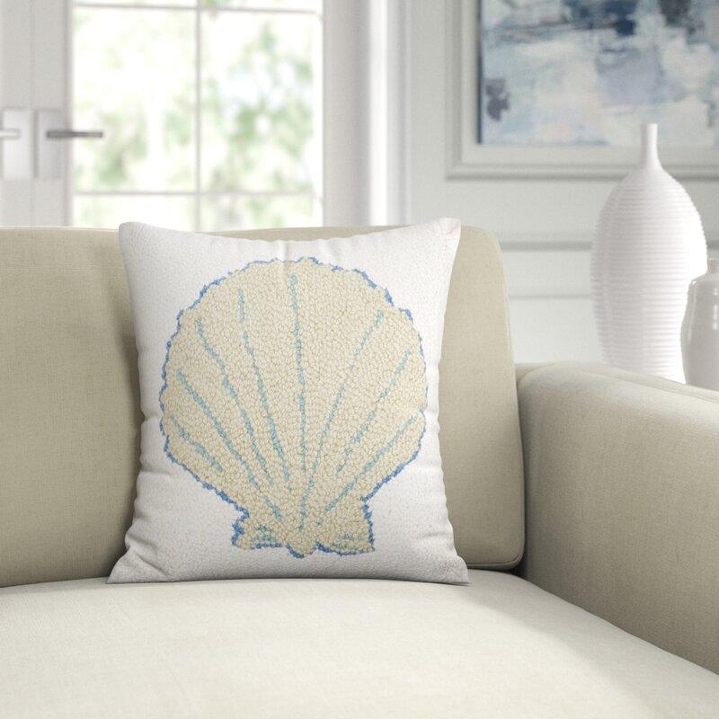 Amity Home Sea Shell Wool Throw Pillow Reviews Perigold