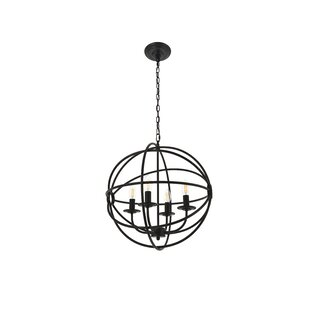 Coombe Dingle 4-Light Globe Pendant by Wrought Studio