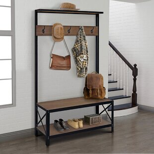 Tokarz Bench and Coat Rack Hall Tree by Williston Forge