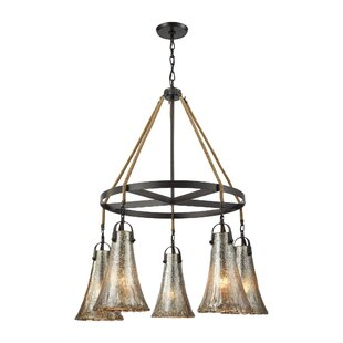 Marjane 5-Light Shaded Chandelier by Bungalow Rose