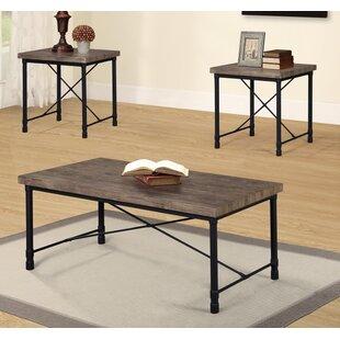 Loon Peak Boscobel 3 Piece Coffee Table Set