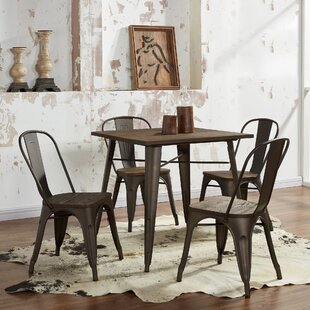 5 Piece Industrial Dining Set