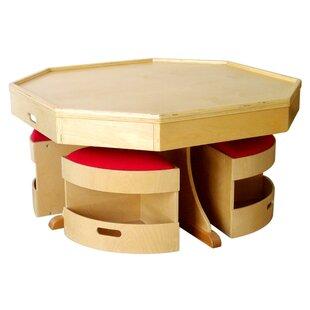 Kids 5 Piece Table and Stool Set ByA+ Child Supply