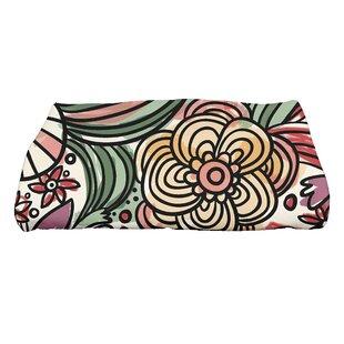 Natahsa Zentangle Floral Print Bath Towel