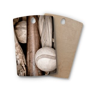 Debbra Obertanec Birchwood Play Ball Baseball Cutting Board By East Urban Home