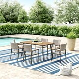 Colesberry Outdoor 7 Piece Dining Set