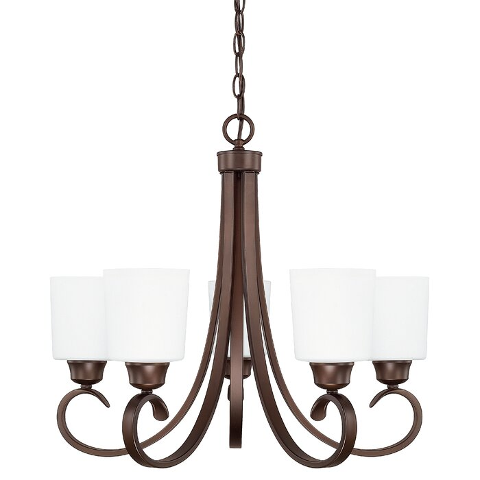 Emer 5 - Light Shaded Traditional Chandelier