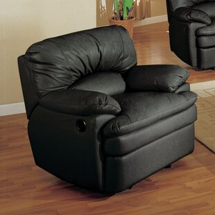 Haines Leather Manual Recliner by Wildon Home ®