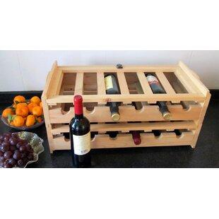 Stacking Wooden Floor Wine Bottle Rack (S..