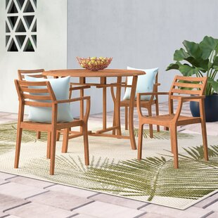 Roseland 5-Piece Roseland Eucalyptus Dining Set by Beachcrest Home