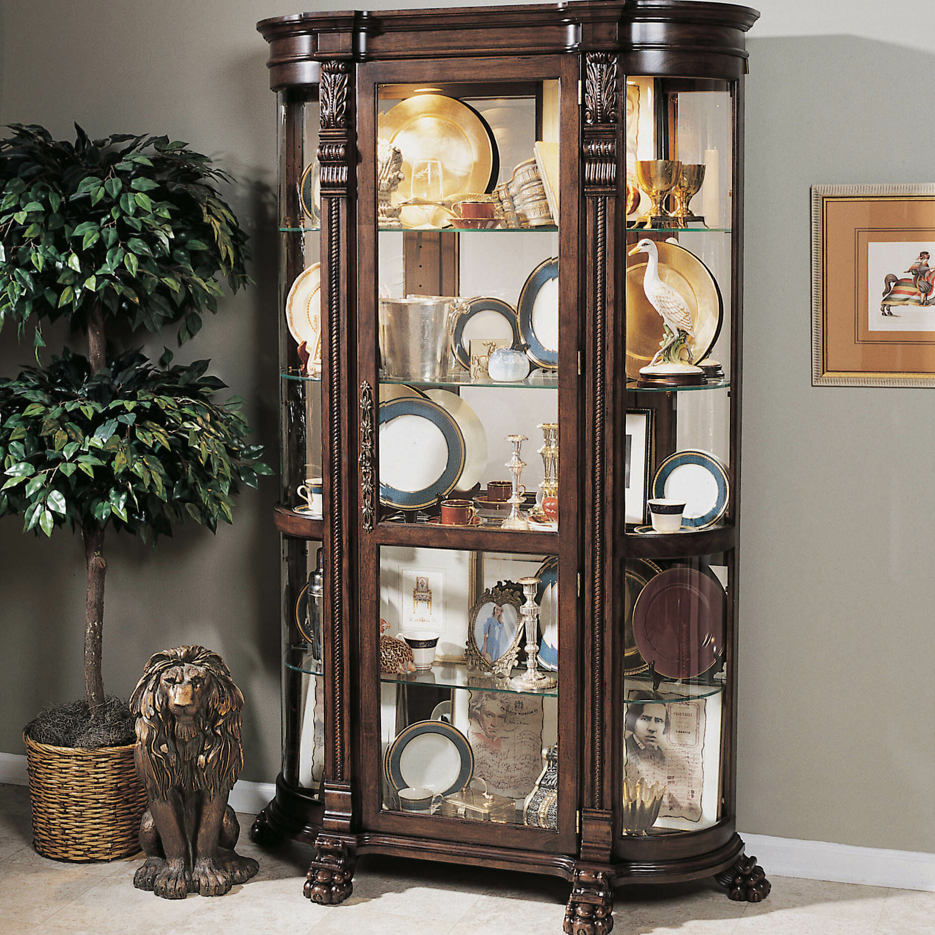 China Curio: Darby Home Co Murillo Lighted Curio Cabinet & Reviews