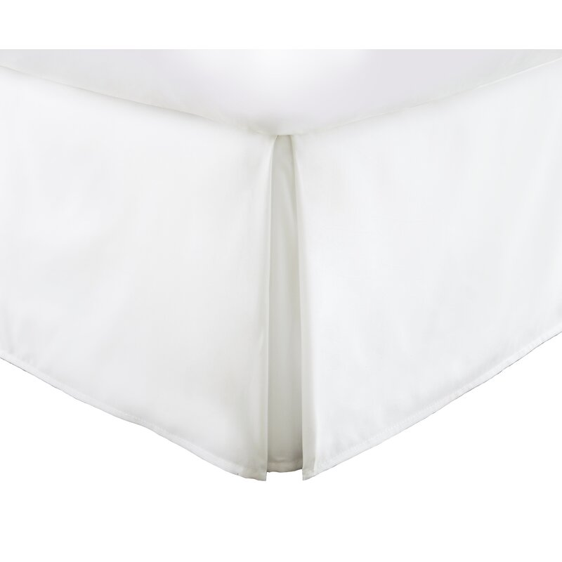 White DreamSpace Quilted Bed Skirt Dust Ruffle Diamond Pattern Matelasse Tailored 14 Drop Queen