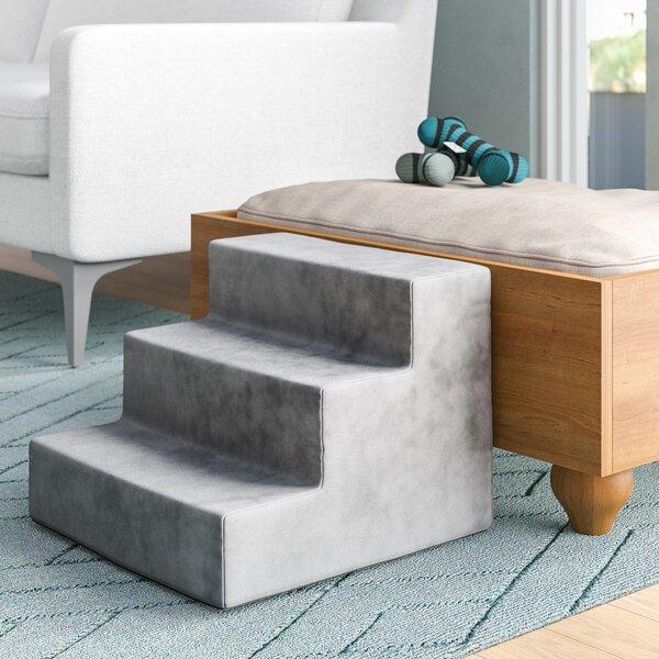 Tucker Murphy Pet Hostetler High Density Foam 3 Steps Pet Stairs Reviews Wayfair