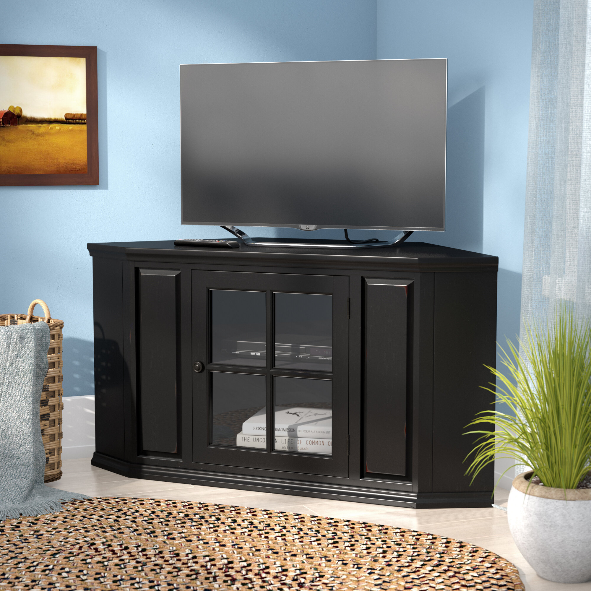 info for 3c72a 21eca Black Corner TV Stands You'll Love in 2019 | Wayfair