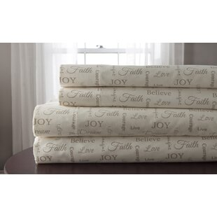 Inspirational Print 100% Polyester Sheet Set
