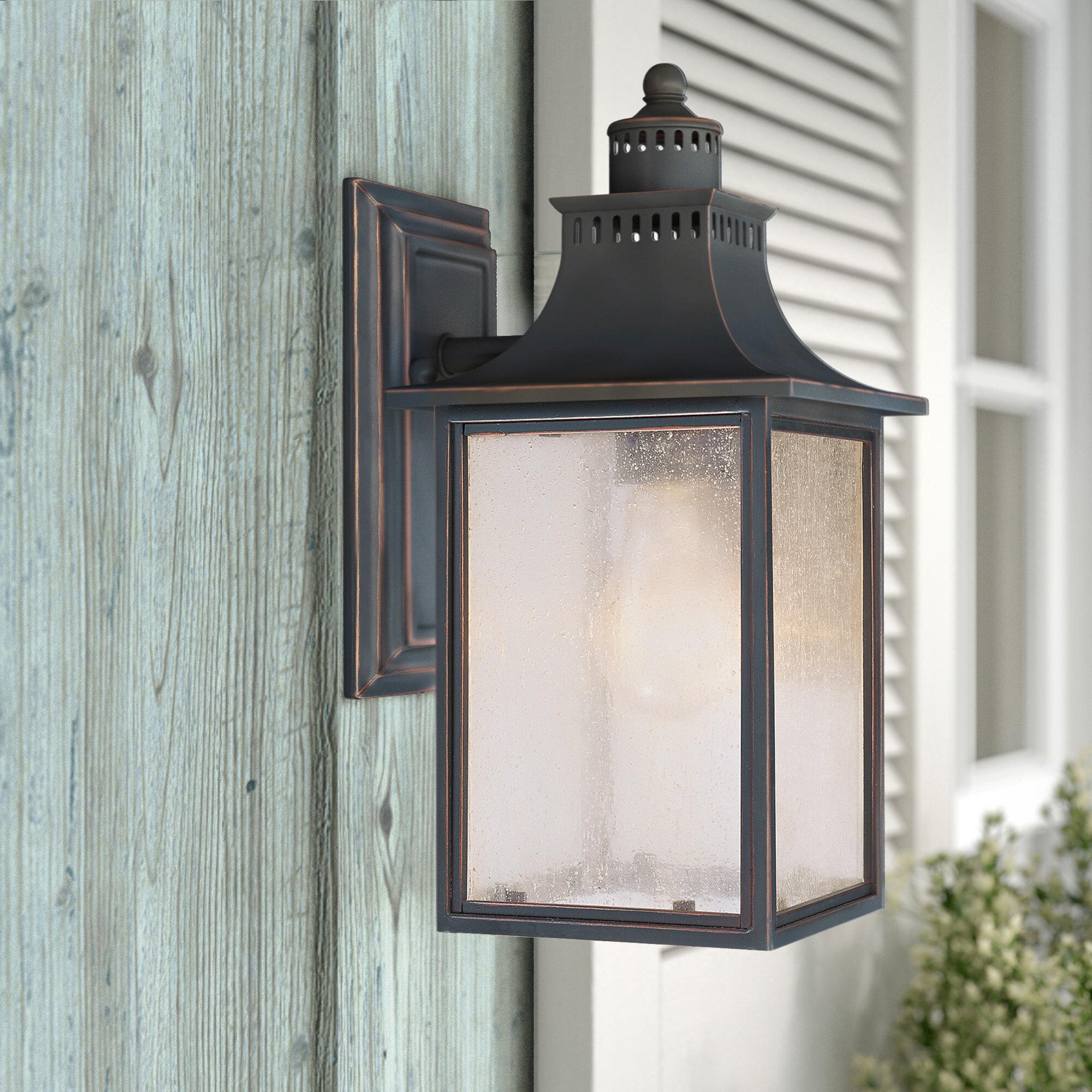 Laurel Foundry Modern Farmhouse Deshawn 1 Light Outdoor Wall Lantern Reviews Wayfair Ca