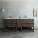 Formosa Floor Standing Open Bottom 84 Double Bathroom Vanity Set by Fresca