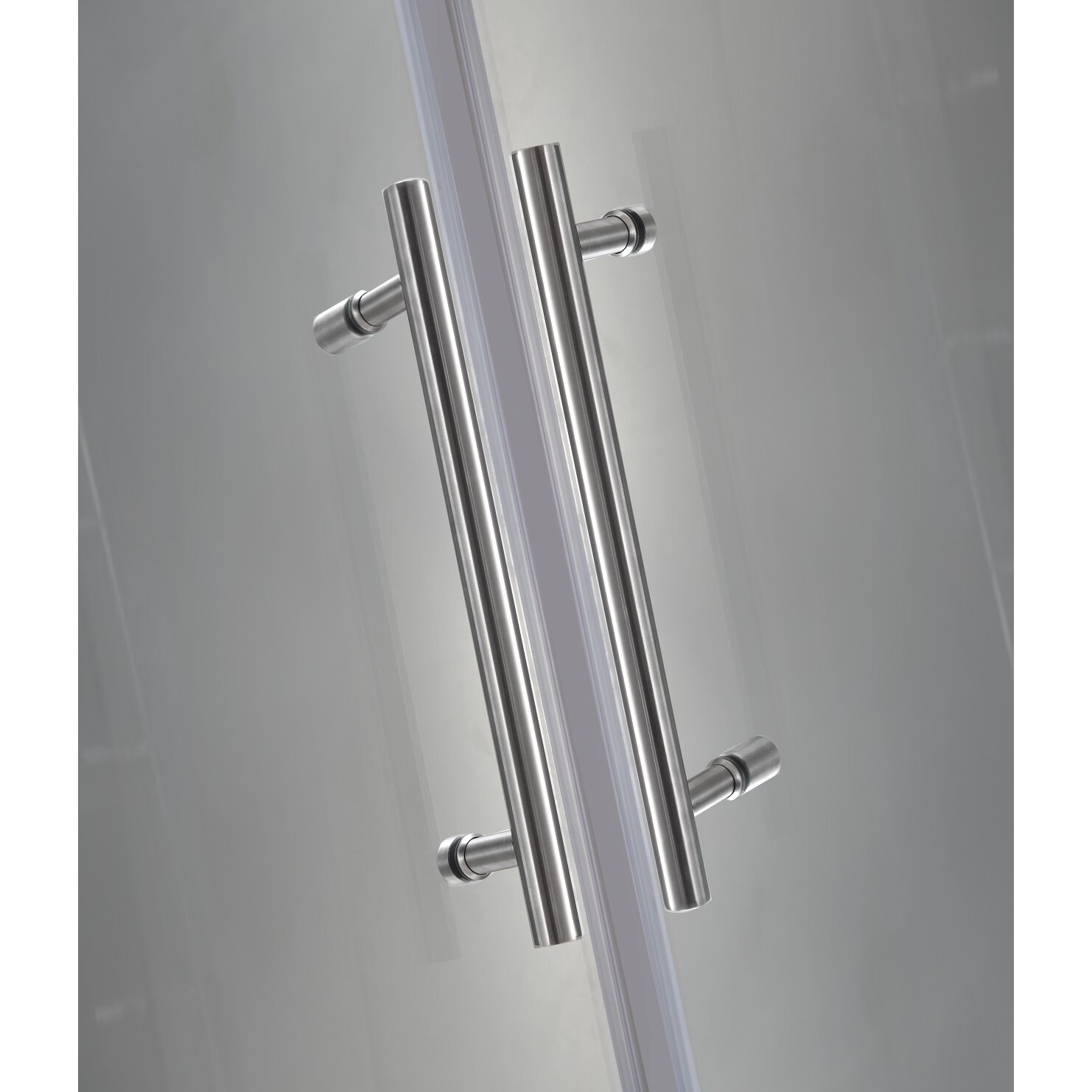 vanora completely frameless dualdoor square hinged shower enclosure