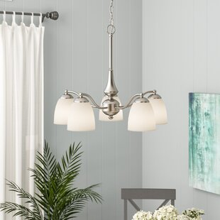 Rockford 5-Light Shaded Chandelier by Beachcrest Home