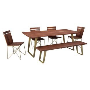 Union Rustic Yeager Solid Wood Dining Table