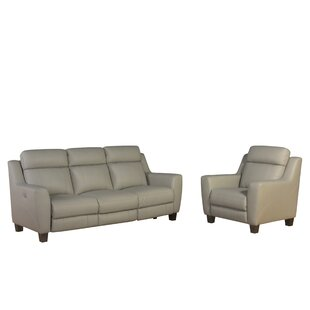 Florham Reclining Leather 2 Piece Living Room Set by Latitude Run