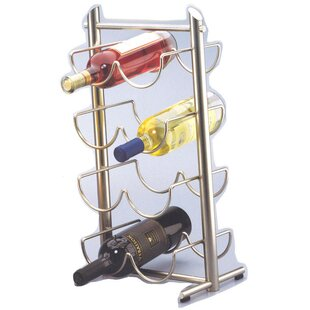 Creative Home Angles Metalware 8 Bottle Tabletop Wine Rack (Set of 2)
