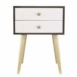 Affordable Claussen Modern 2 Drawer Nightstand by George Oliver