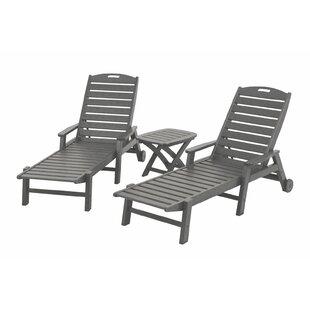 Nautical 3-Piece Chaise Set