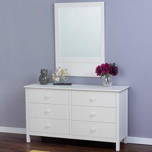 Inexpensive Dakota 6 Drawer Double Dresser with Mirror ByEpoch Design