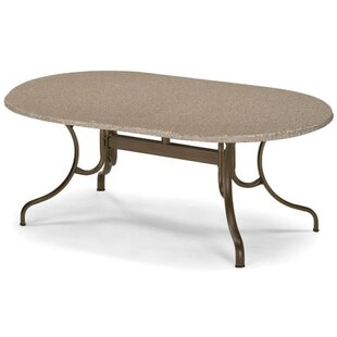 Synthestone Oval Deluxe Dining Table by T..