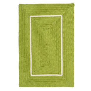 Maven Border in Border Braided Green Indoor/Outdoor Area Rug