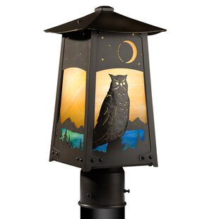 August Grove Devaughn Great Horned Owl 1-Light Post Light