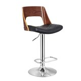 Fairborn Adjustable Height Swivel Bar Stool by Wrought Studio™
