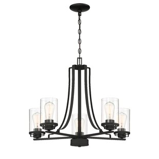 Williston Forge Coil 5-Light Shaded Chandelier