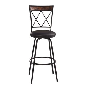 Shaurya Swivel Bar Stool by World Menagerie