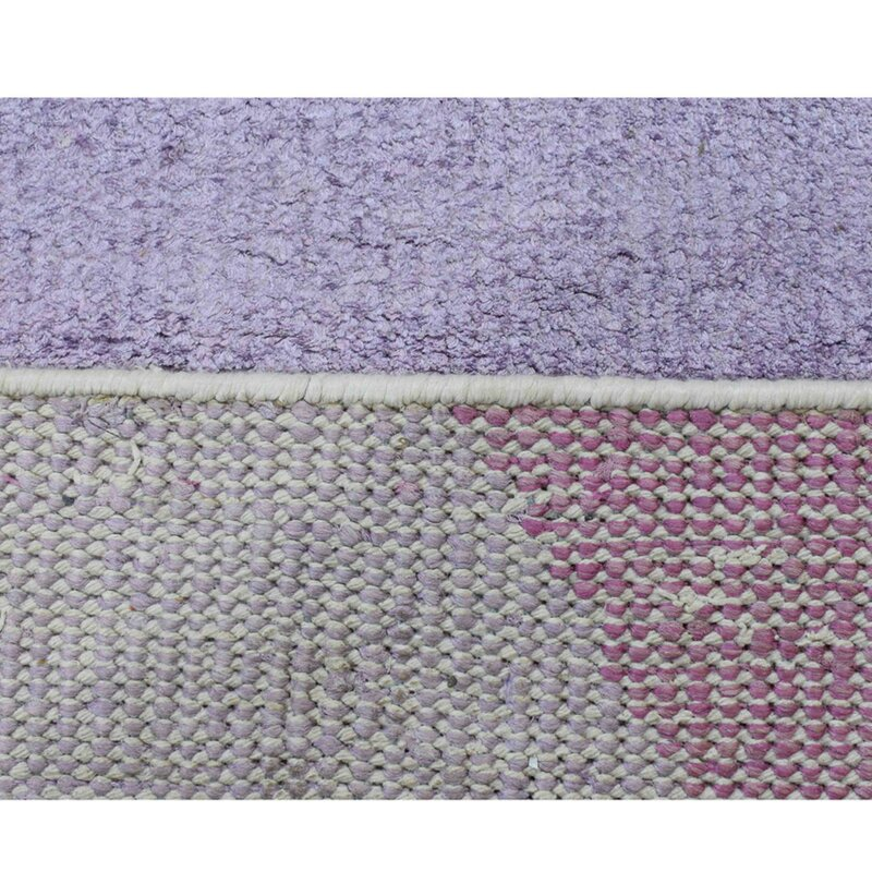 George Oliver Patchway Abstract Hand Knotted Purple Area Rug Wayfair