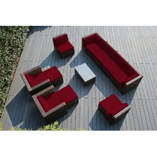 Baril 11 Piece Sunbrella Sofa Seating Group with Cushions