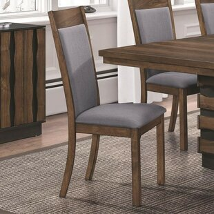 Riebe Wooden Upholstered Dining Chair (Set of 2)