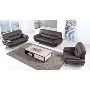 Modern Contemporary Taupe Leather Sofa Set Allmodern