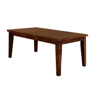 Angelica Extendable Solid Wood Dining Table Charlton Home
