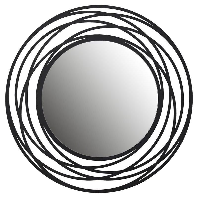 fluent round wall mirror