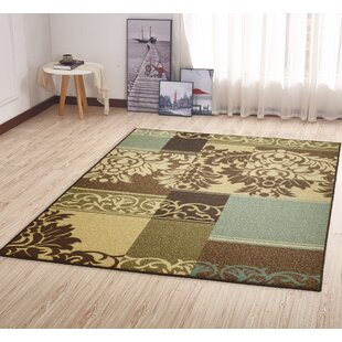 Camarena Contemporary Damask Design Hallway Area Rug